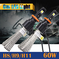 60 W H8 H9 H11 Bombilla LED 6400LM 6500 K Fresco Blanco de Repuesto Del Coche Lámpara Corriente Diurna Luz de Niebla Del Faro DRL