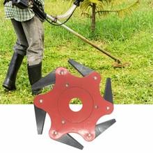 Газонокосилка газонокосилка триммер головка-щетка Резак Инструменты 6 стальные бритвы 65Mn