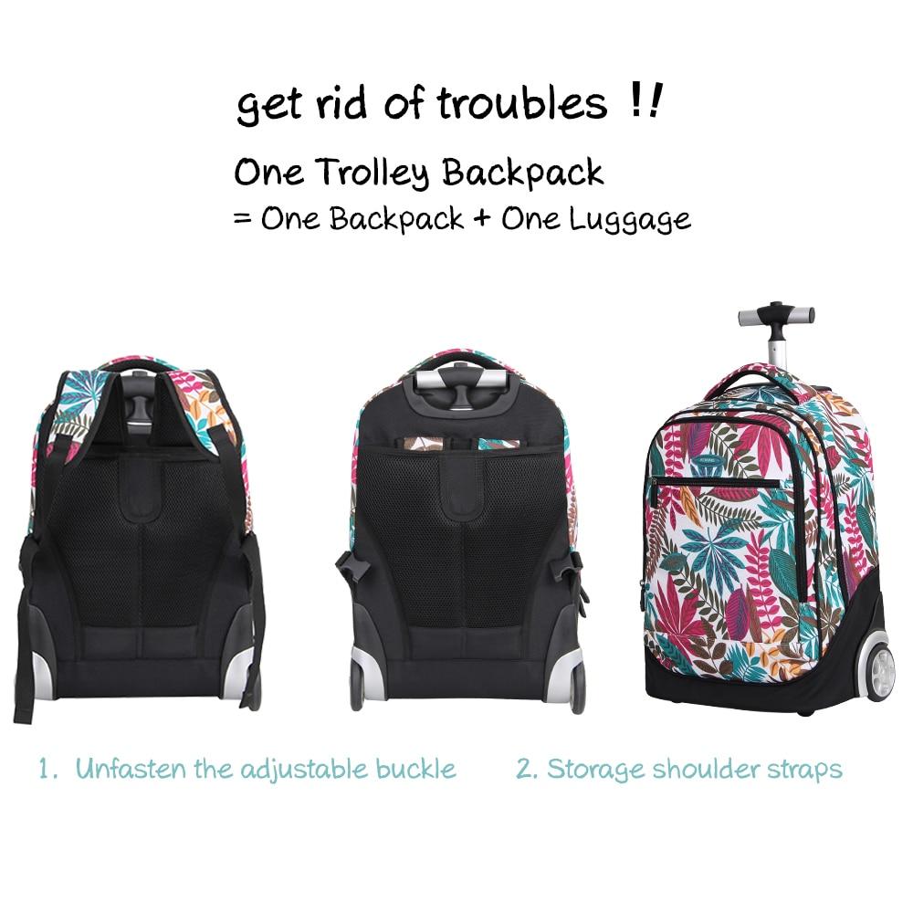 Aoking Fresh College School Flickor Trolley Ryggsäck Väskor Vackra - Väskor för bagage och resor - Foto 4