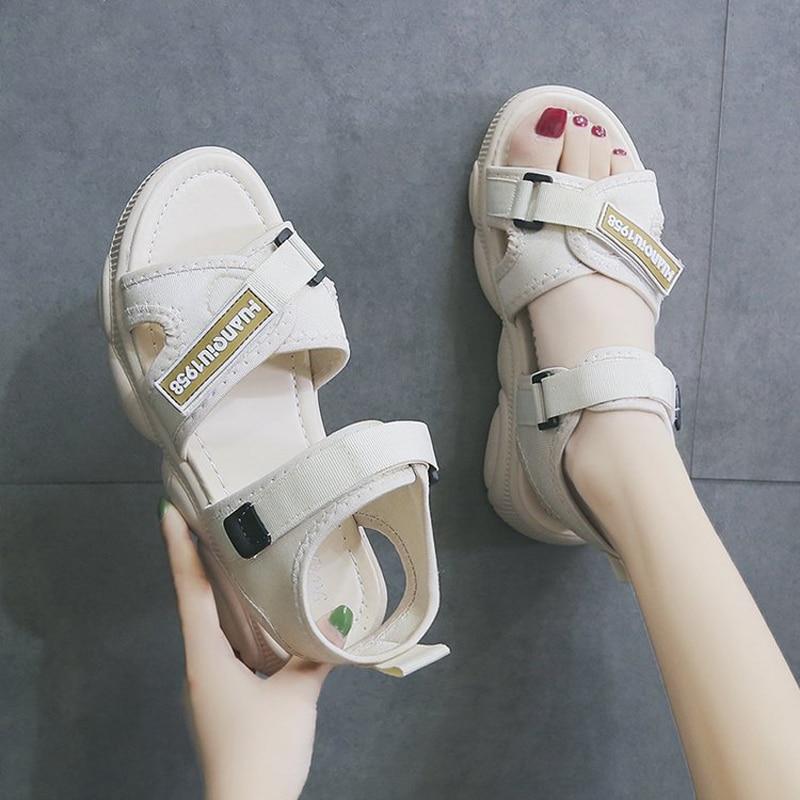 E TOY WORD Women Sports Sandals Fashion Summer Women Flat Shoes Peep toe Beach Bear Shape Bottom Comfortable women sandals in Women 39 s Sandals from Shoes