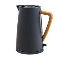 Нержавеющая сталь Электрический чайник с деревянная и пластиковая ручка 1.7L #304 еда класс SS нагрева воды в 5 минут 1800 Вт