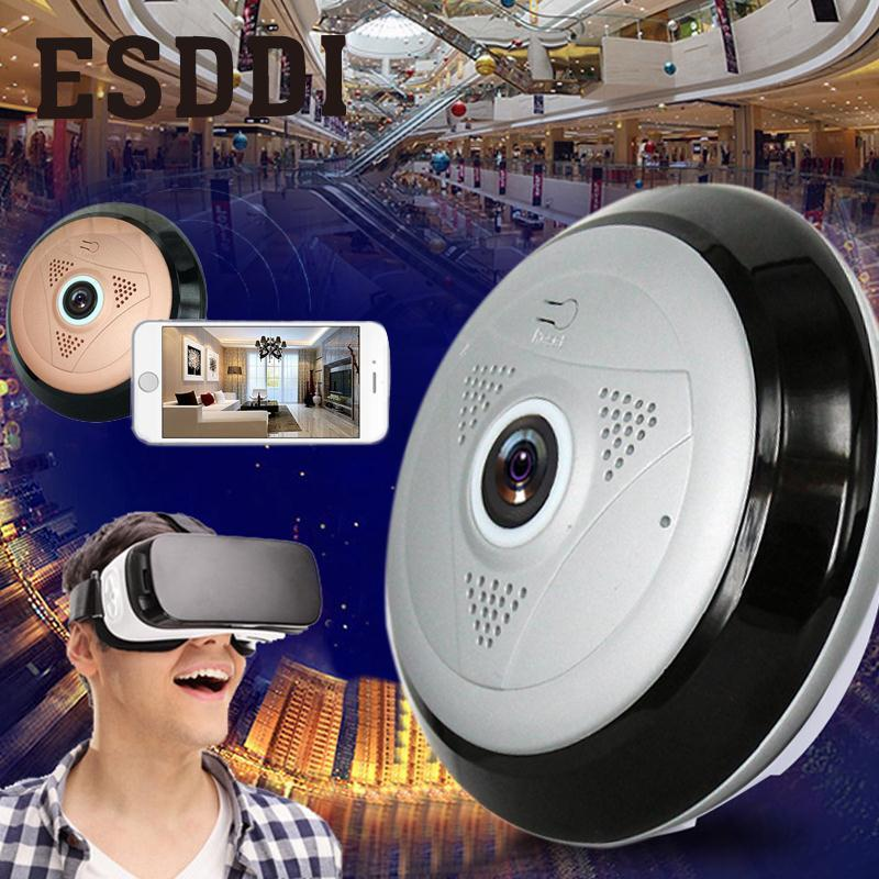 Esddi 360 Panoramic Fisheye HD Wireless WIFI Cam Home Security Network IP Mini Camera Professional Safety Consumer Camcorders