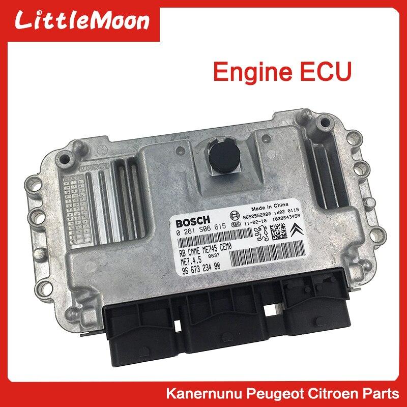 LittleMoon Nouveau original calculateur moteur module de commande de moteur pour Peugeot 301 206 207 307 308 408 C2 C3 C4 zx Elyess ÉCUS