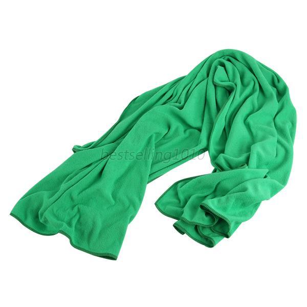 70*140 см большое полотенце для ванны быстросохнущее микрофибра Спорт Пляж плавать путешествия Кемпинг мягкое полотенце s - Цвет: dark green