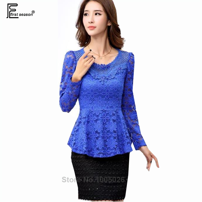 Women'S Royal Blue Blouse 89