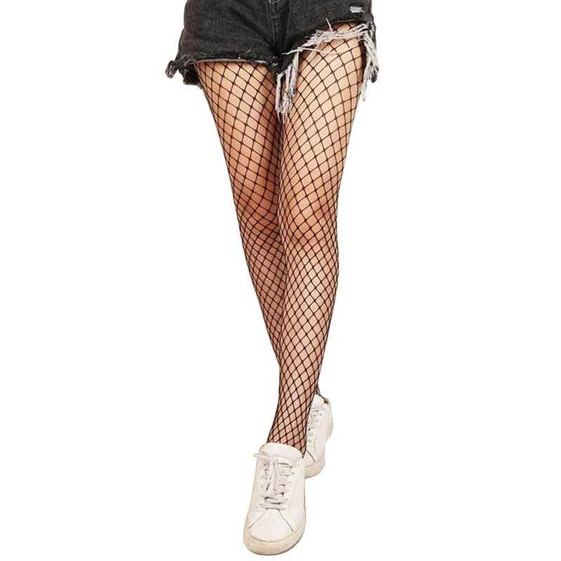 חלול החוצה סקסי גרביונים שחור נשים גרביונים גרב גרבי רשת מועדון מסיבת Calcetines נשי רשת