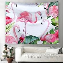 Фламинго прямоугольный гобелен настенный богемное пляжное полотенце полиэстер тонкое одеяло покрывало для йоги коврик одеяло для пикника Коврик