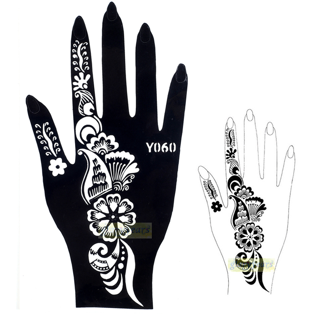 1pc hot exquisite large indian sheet sticker design flower henna temporary nontoxic tattoo stencil sexy girl