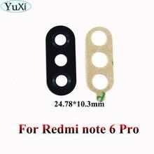 Стеклянная задняя камера yuxi крышка объектива для xiaomi redmi
