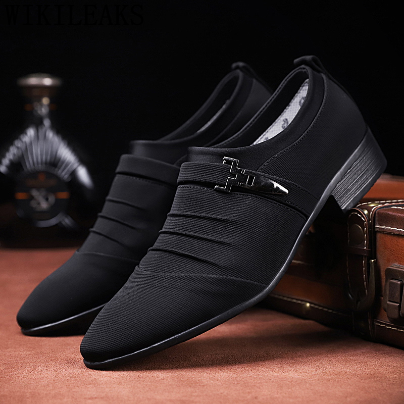 US $5.98 50% OFF|wedding shoes for men 2019 classic shoes men dress loafers casual shoes mens dress shoes schoenen heren zapatos elegantes hombre in