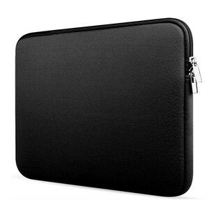 Image 1 - Weiche Laptop Tasche Für xiaomi Dell Lenovo Notebook Computer Laptop für Macbook air Pro Retina 11 12 13 14 15 15,6 Hülse Fall Abdeckung