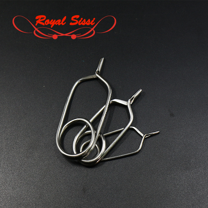 Royal Sissi ыстық үш өлшемді өлшемдер English Style Tip Hackle Pliers Feather Clips clamp Rapping Hackle Tools жалпы Fly Tying Tools