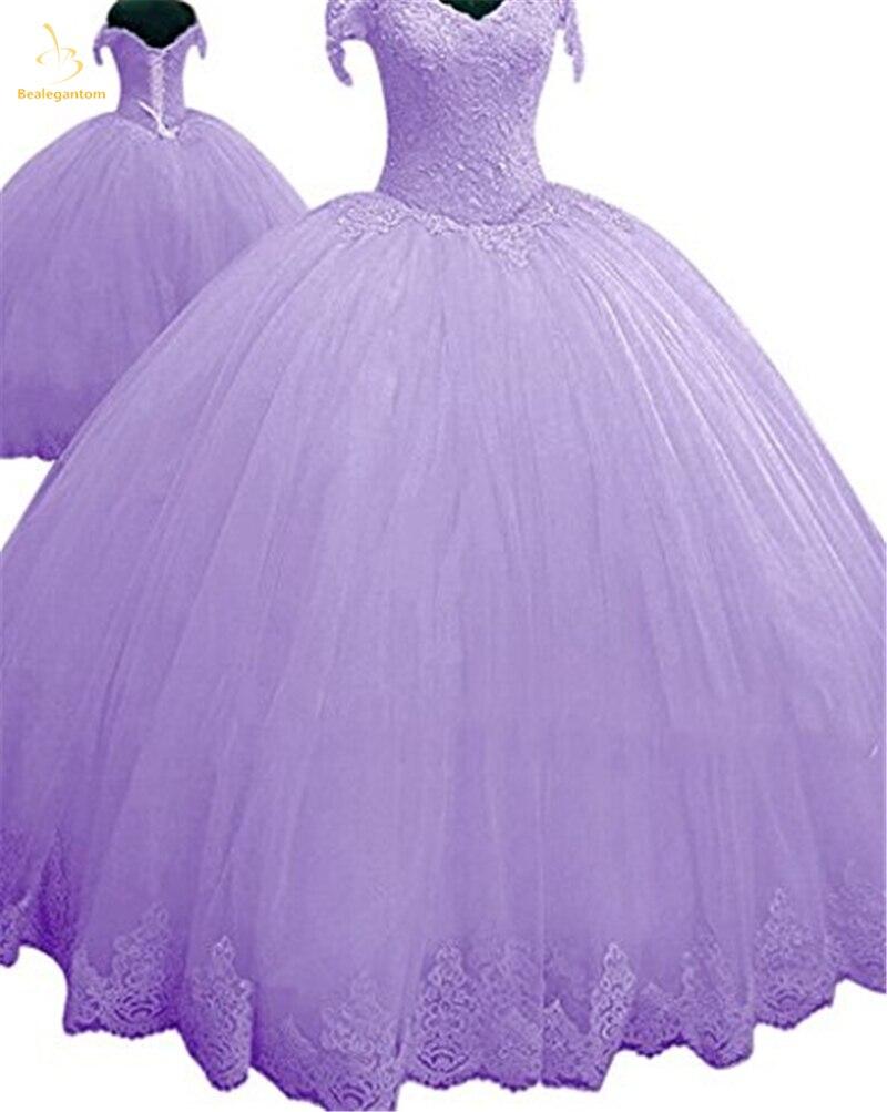 Bealegantom 2018 Rouge Lilas Rose Vert Quinceanera Robes robe de Bal Perlé Sucré 16 Robe Robes De 15 Anos QA1385