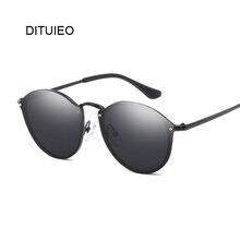 Vintage Black Round Sunglasses Women Brand Designer Big Fram