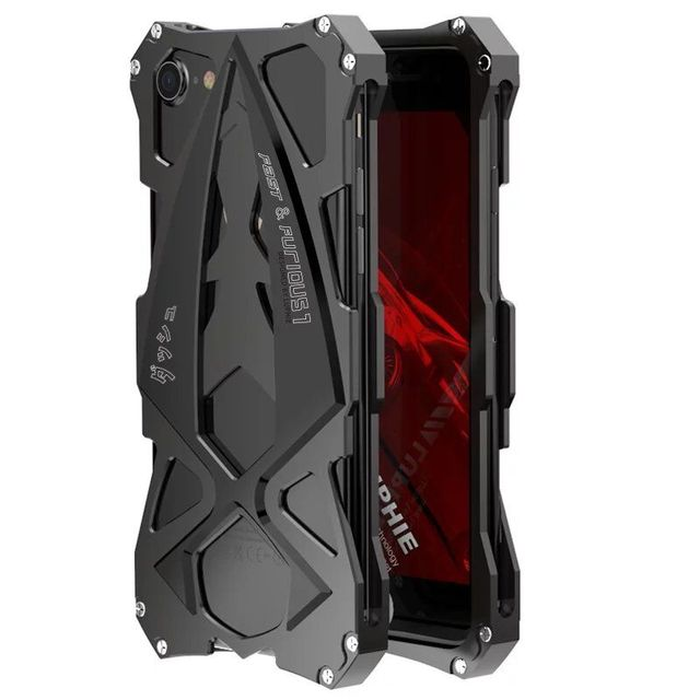 the latest 6db79 046b0 US $17.49 30% OFF|LUPHIE sports car metal aluminum Shockproof Cover case  outdoor Armor anti knock phone cases for iphone 8 Plus-in Fitted Cases from  ...