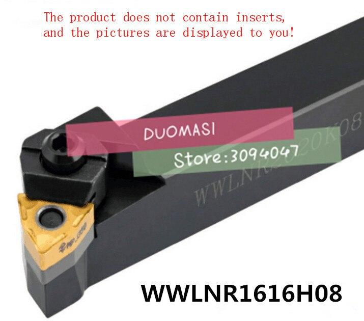 WWLNR1616H08 16*16*125MM CNC Turning Tool, Metal Lathe Cutting Tools,Lathe Machine Tools, External Turning Tool W-Type WWLNR/L