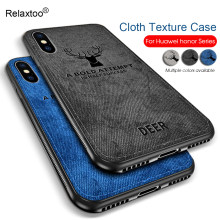 honor8c cloth texture phone case for huawei honor 8x max 8c 7x play 3d pattern back cover honer 8 9 lite light soft silicone tpu(China)