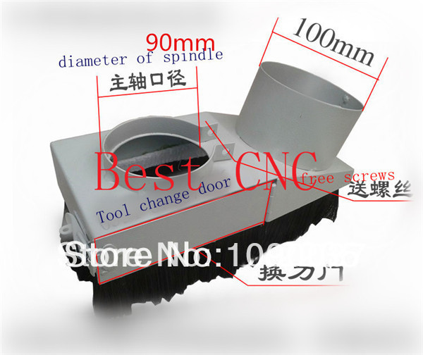 ФОТО 90mm Vacuum Cleaner Engraving machine Dust Cover for CNC Router and spindle motor