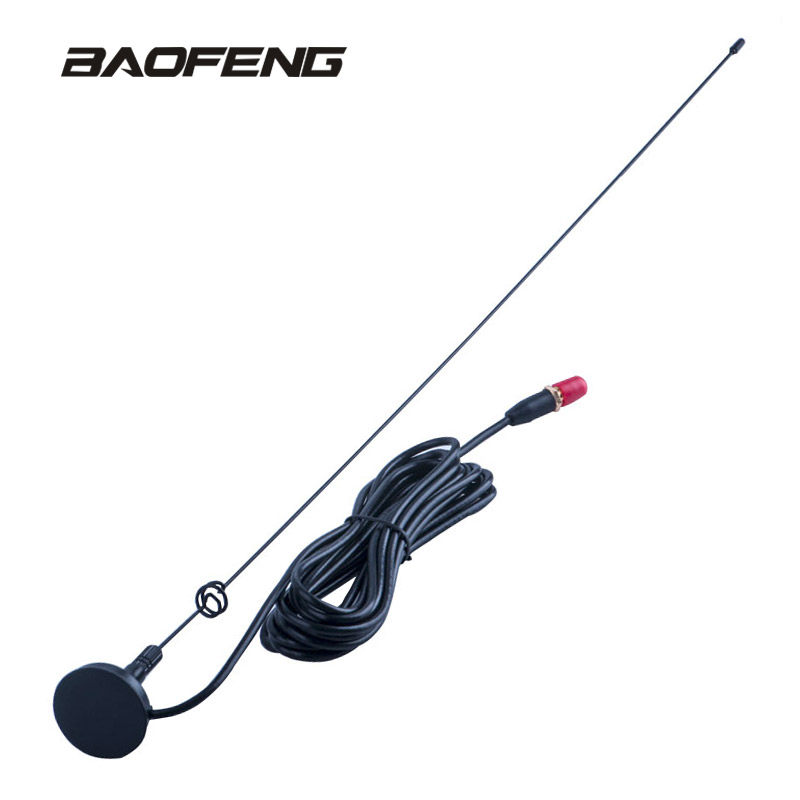 Baofeng Radio Voiture Antenne UT-108UV Gain SMA-F UHF VHF Support Magnétique pour Talkie-walkie UV-5R BF-888S UV-5RE UV-82