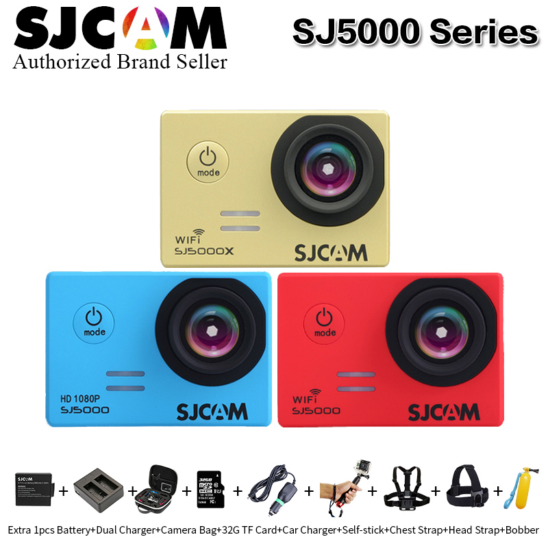 Original SJCAM SJ5000&SJ5000 WiFi&SJ5000X Elite WiFi 4K 24fps 2K30fps Gyro Sports DV NTK96660 Waterproof action camera sj cam DV 2 0 4k sjcam sj5000 series sj5000x elite wifi ntk96660 mini gyro 30 waterproof sports action camera sj cam dvr many accessories