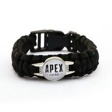 Новый браслет из игры apex legends для мужчин черный веревочный
