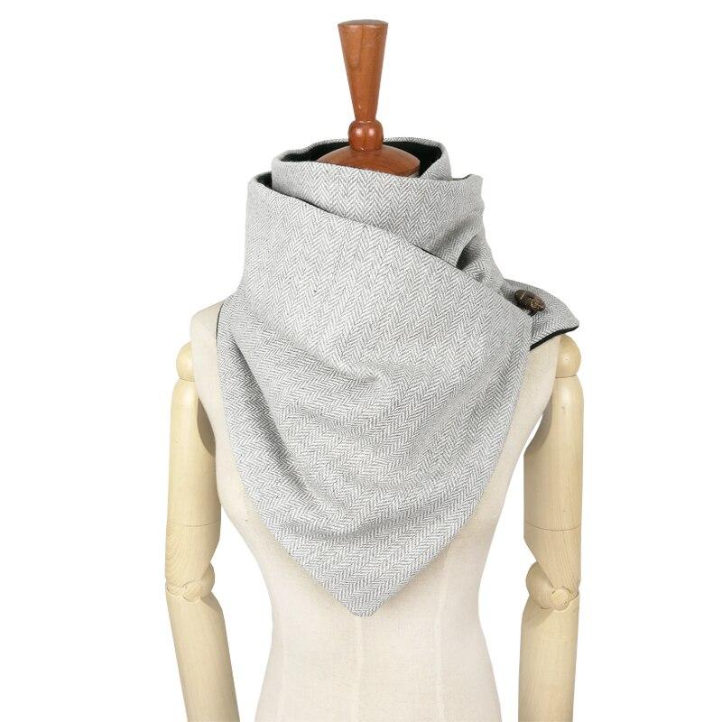 Couverture design mode hiver chaud hommes bouton écharpe laine coton unisexe chevrons chevron anneau écharpe femmes infini écharpe
