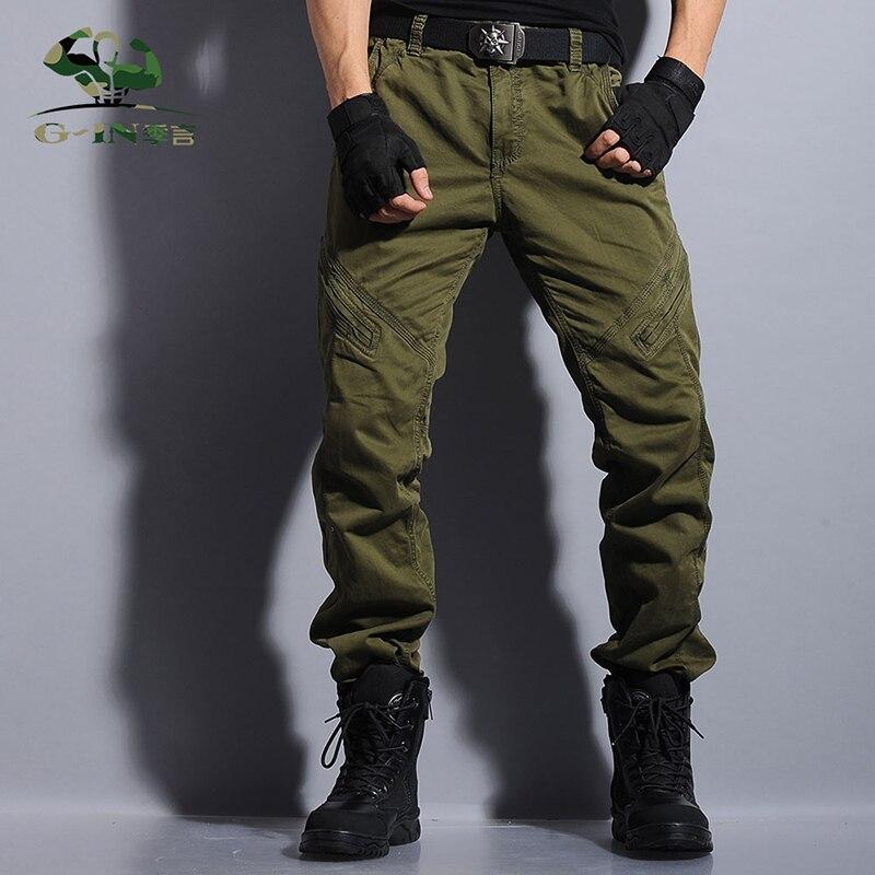 גברים צבאית בסגנון המטען מכנסיים קמו - בגדי גברים