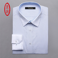 DING TONG Men S Pure Cotton Classic Fit Custom Striped Casual Dress Shirts Customize Gift Shirt