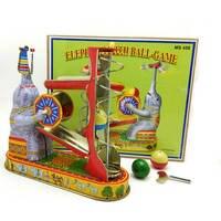 Retro Collection Tin toys mkd3 Children Metal Wind up Auto Models Robot Animal Handmade Iron Mechanical Elephant play balls