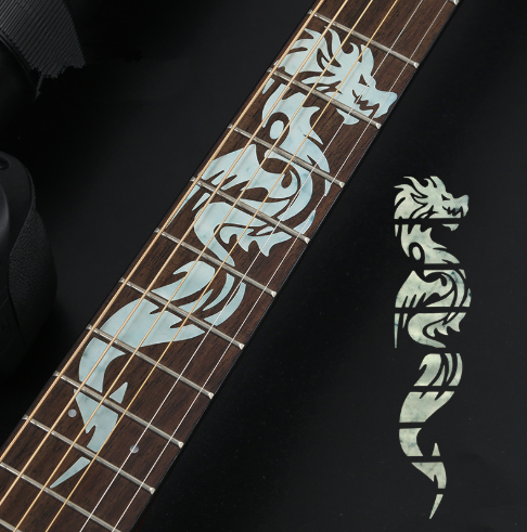 NEW Cross Inlay Decals Fretboard Sticker For Electric Acoustic Guitar Bass Ultra Thin Sticker Guitar Accessories 4 Styles