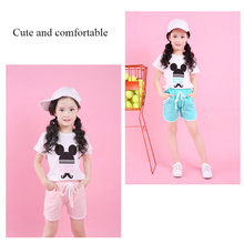 Kids New Sets 2018 Summer Children Clothing Short-Sleeved T-shirt +shorts 2 pieces Sets Of Girls High-Quality Sportswear Clothes цена 2017