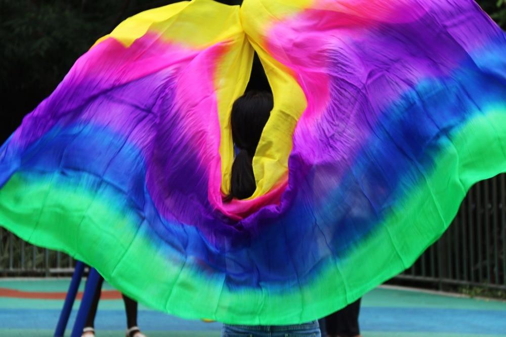 Design 100 Real Silk Belly Dance Veil Cheap Dance Veils Tari Perut Kostum Veil Wholesale Yellow