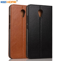 Case For Meizu M5 Note KEZiHOME Genuine Leather Flip Stand Leather Cover For Meizu M5 Note