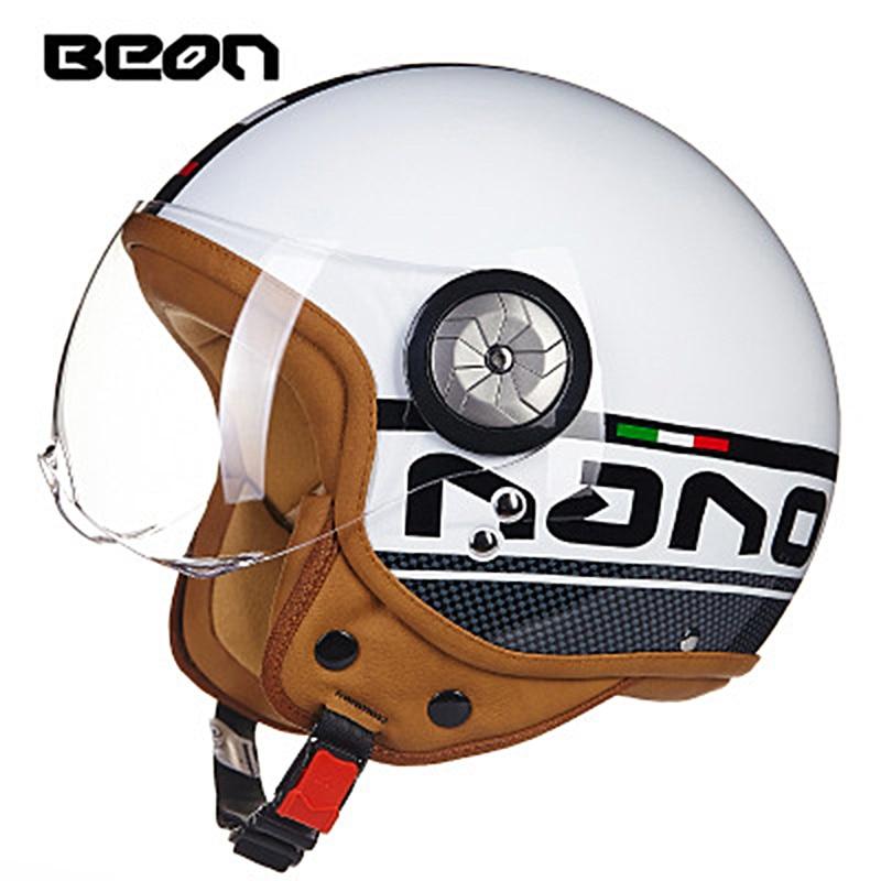 Beon Four Seasons Motorcycle Vintage Helmet Moto Bike Motocross Scooter Electric Helmets Casco Capacete Jet Retro Helmet цена