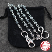925 sterling silver men's trousers chain personality domineering classic hip hop punk style cross anchor modeling lover's gift