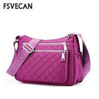 2019 New Arrival Summer Women Messenger Bags Nylon Waterproof Travel lightweight Multiple Pockets Casual Ladies Crossbody Bag