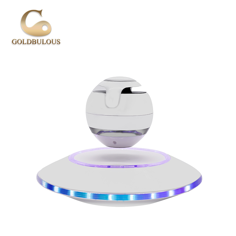 Goldbulous  Sound Portable Magnetic Levitation Speaker Wireless Floating Orb Bluetooth Speaker LED for Mobile Phone MP3 Iphone X mymei best price new portable 3 5mm pillow speaker for mp3 mp4 cd ipod phone white