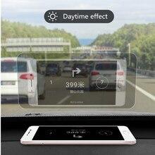 Автомобильный HUD светоотражающая пленка на голову дисплей защитный светоотражающий экран расход превышения скорости дисплей Авто аксессуары автомобильный Стайлинг