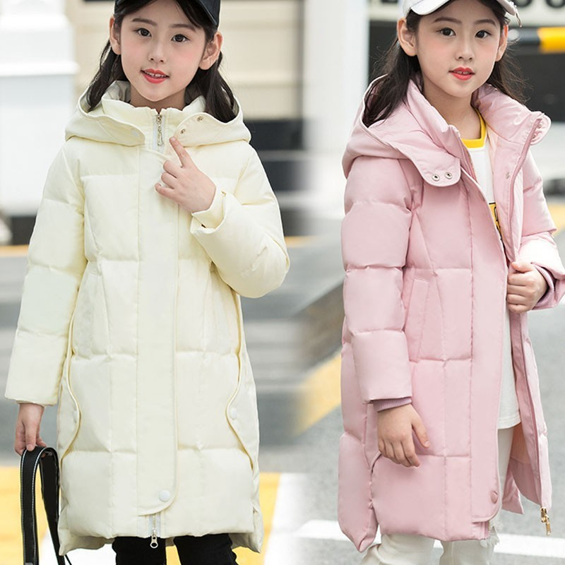 Hooded Toddler Girl Winter Coat New 2018 Fashion Children Winter Jackets Girls Kids Warm Thick Long Down Coats Teenage Outwear girl long down jackets dorsill 2017 new winter warm children outwear hooded fashion boy winter coat thick kids down