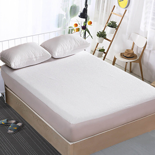 125gsm size 80x190cm terry coating tpu waterproof mattress protector for bed wetting and bed bug breathable