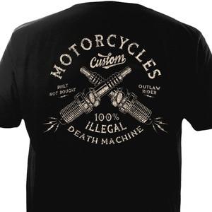 Image 3 - Vintageรถจักรยานยนต์ที่กำหนดเองBiker Chopper Bobber Motard Motorrad Homme 2019ใหม่พิมพ์Tเสื้อผู้ชายแขนสั้นแถบTเสื้อ