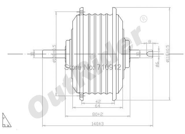 FreeMail24V 250 W électrique pliant vélo/vélo Kit pièces moyeu moteur OR01A4 Brushless CE/EN15194 approuvé 175 rpm Dahon/Brompton
