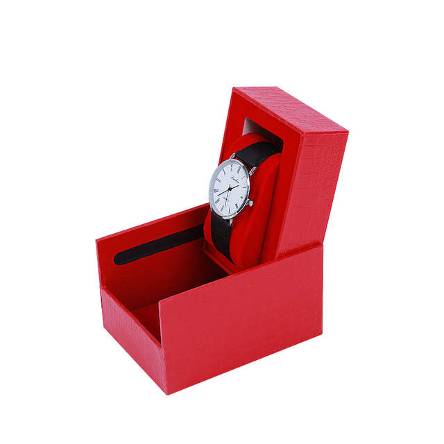 1pc Watch Case Portable Single Watch Case Jewelry Case Collection Box Counter Display Box Carry Watch Bracelet Box