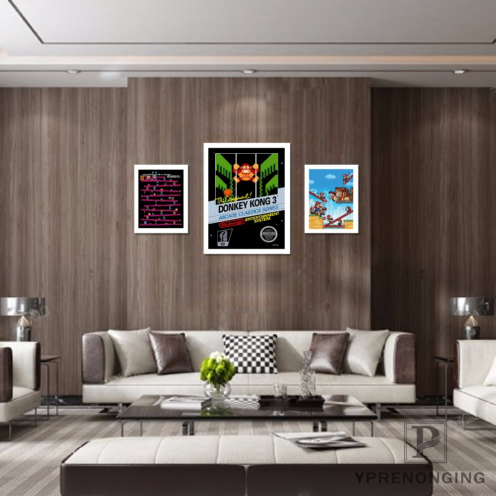 Canvas Poster Silk Fabric Donkey Kong - Retro Nintendo Gaming Poster (Classic Donkey Kong / NES)#180327-16