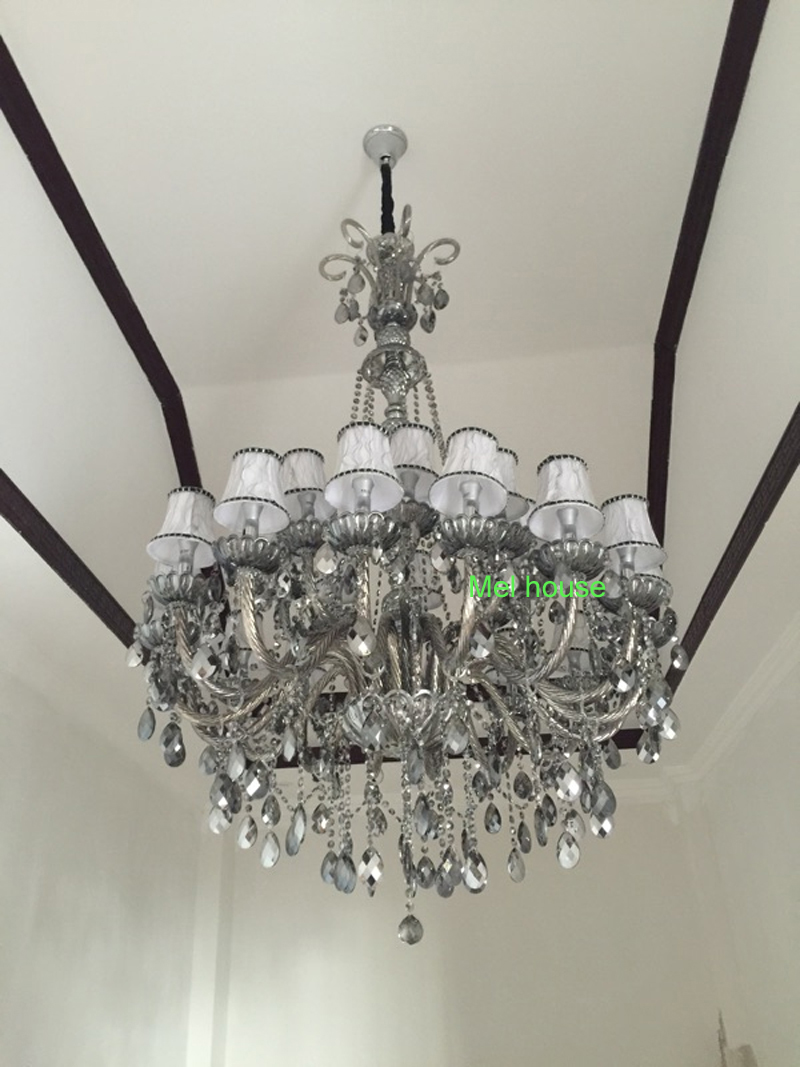 retro verlichting kroonluchters lamp Rook grijs kristallen - Binnenverlichting - Foto 3