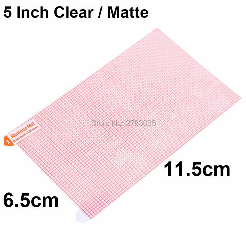 5 Inch 6.2cm*11cm Universal Clear Glossy / Anti-Glare Matte DIY Grid Screen Protector Protective Film Guard For 5.0