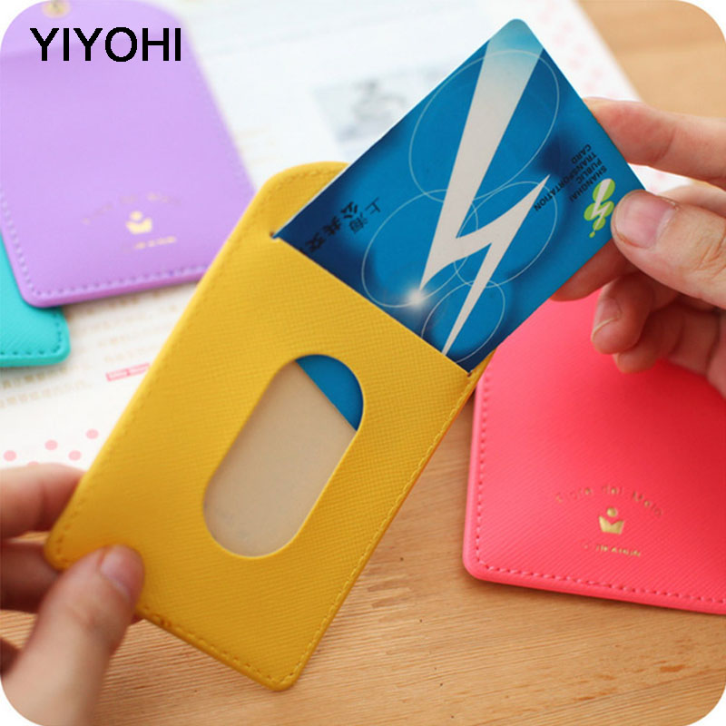 YIYOHI Candy Colors Shaped Named Card Holder Identity Badge Employee Identity Card Badge With Lanyard Card Holder Key Chain constitutional identity