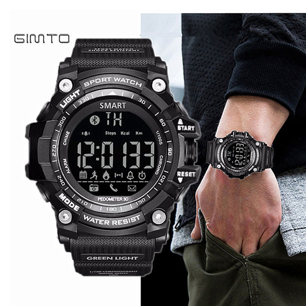 GIMTO Kühle Digitale Sportuhr Männer Clock Marke Luxus Intelligente Elektronische Armbanduhren Military Wasserdicht Schock Stoppuhr Relogio