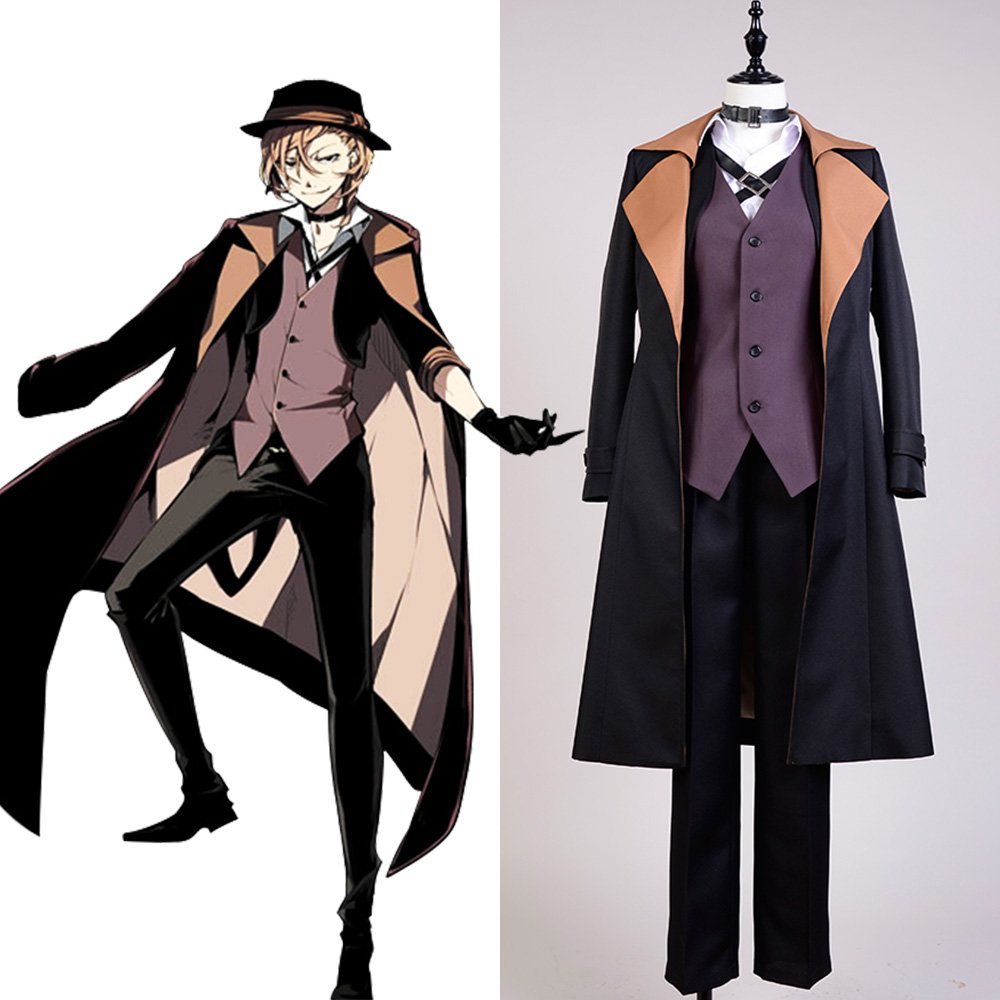 Bungo Stray Dogs Chuya Nakahara Hight Qulity Halloween Party Men Fashion Cosplay Costume