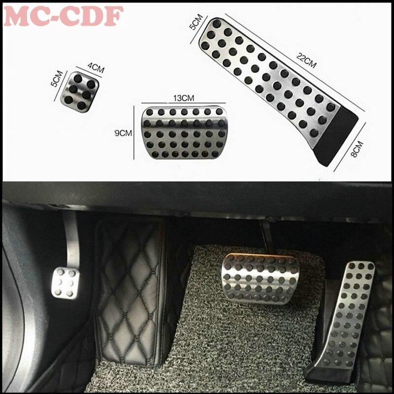 Stainless Steel Car Accelerator Gas Brake pedal for Mercedes Benz MT C E S GLK SLK CLS SL Class W203/W204/W211/W212/W210